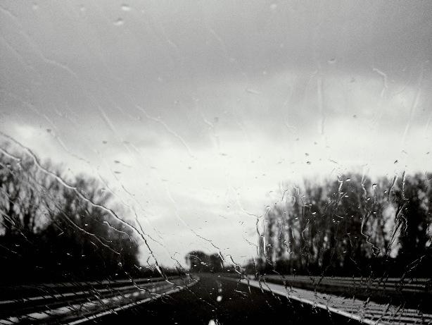 rain road ahead