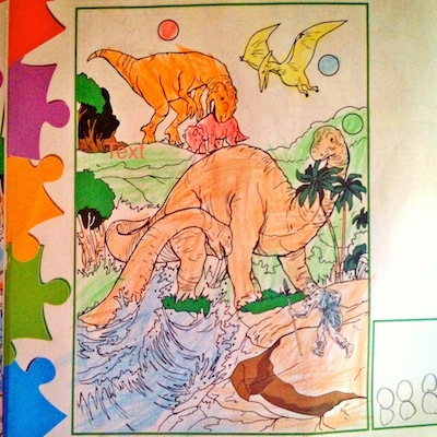Colouring book.dino section